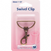 Hemline Swivel Clip - Bronze - 35mm